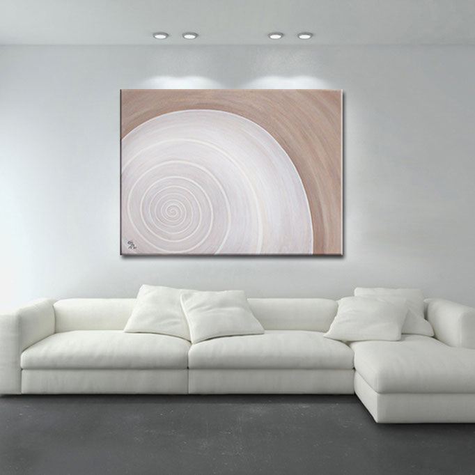 """Abstract Shell (I)"" 80 x 110 cm - sold/verkauft"