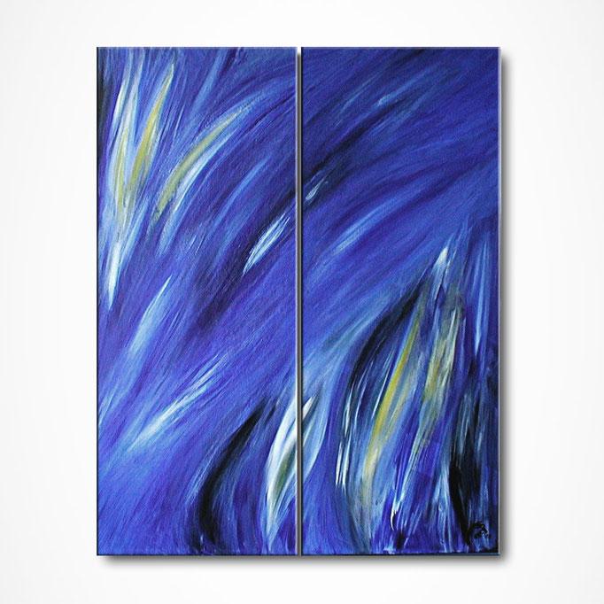 """""""Blue Inspiration"""" 100 x 80 cm (Diptych) - sold/verkauft"""