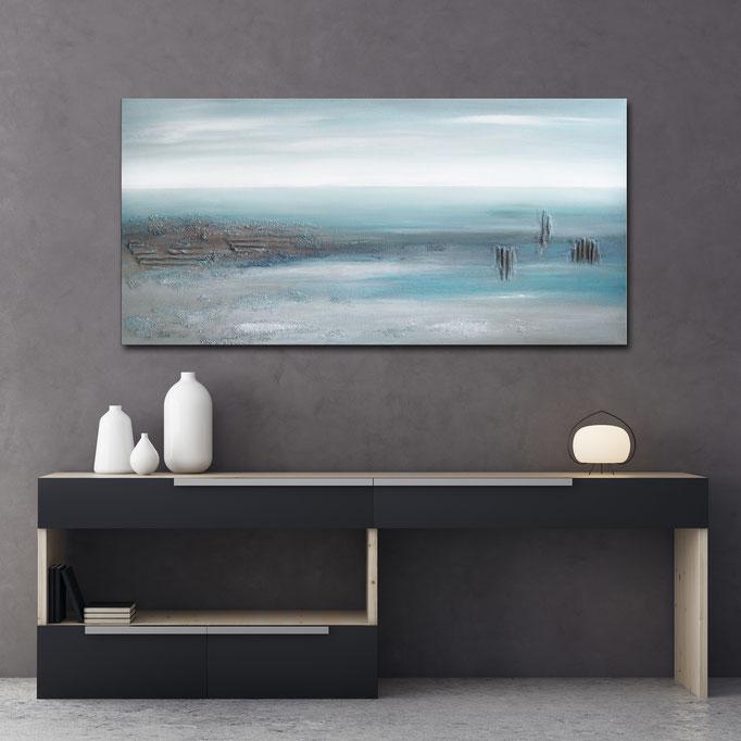 """Seascape"" 50 x 100 cm - sold/verkauft"