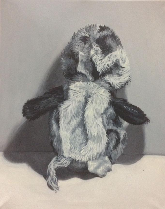 Opfer No.9, 50 x 40 cm, Eitempera auf Leinwand