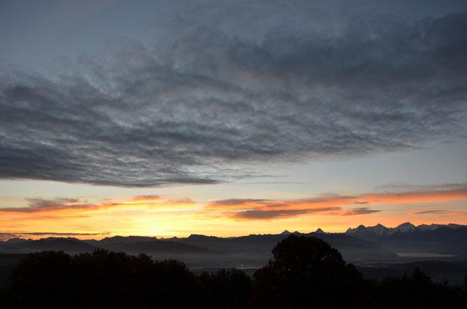 Morgenstimmung in der Region Gantrisch.