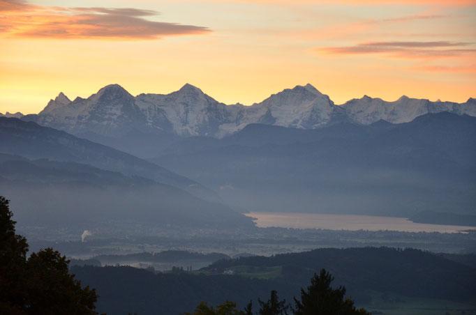 Blick auf die Alpenkette.