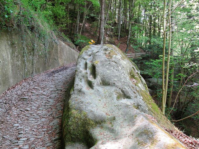 Der Pilgerweg im Sensegraben.