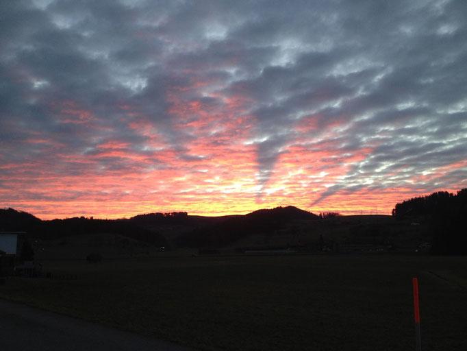 Sonnenaufgang in Gasel.