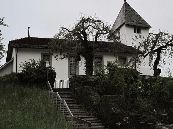 Kirche Riggisberg im Morgengrauen.