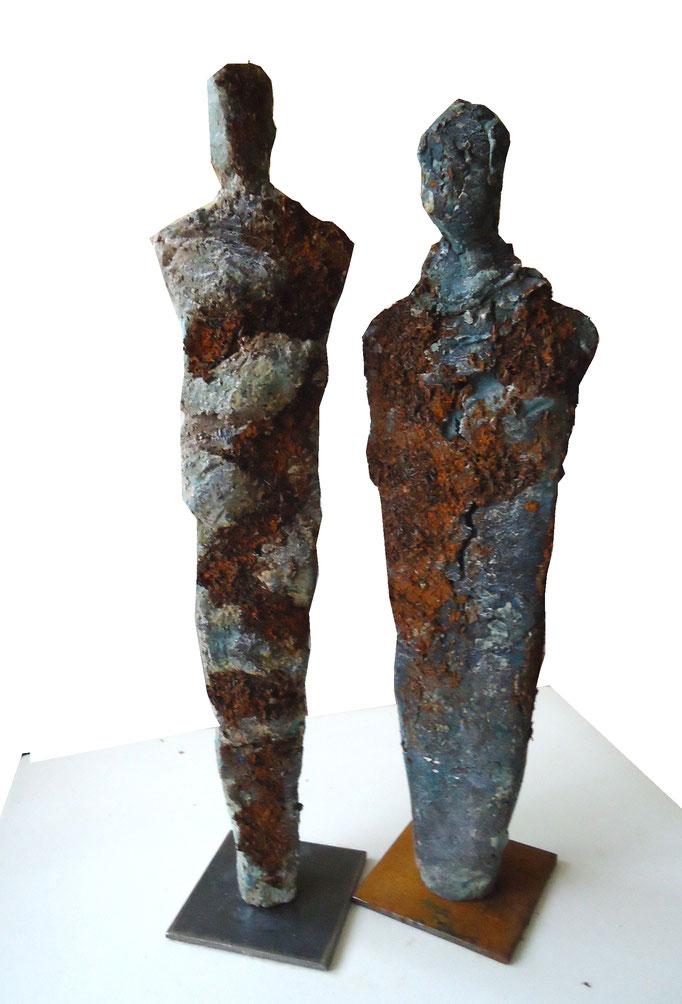 Im Dialog/Figurenpaar mit Metall (verkauft)