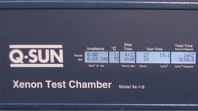 Q-SUN Xenon Test Chamber, Display