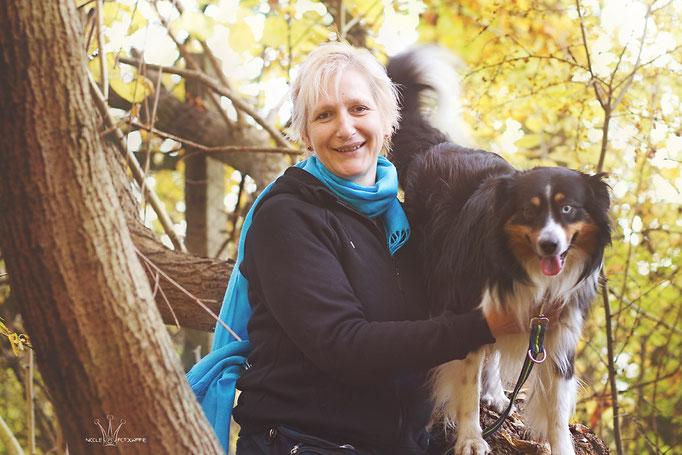 Bea mit Mini-Australian-Shepherd-Rüde Benny