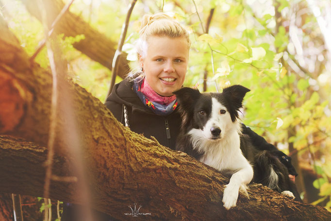 Kristin mit Border Collie-Hündin Lotte