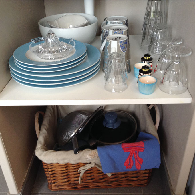 Toute la vaisselle nécessaire