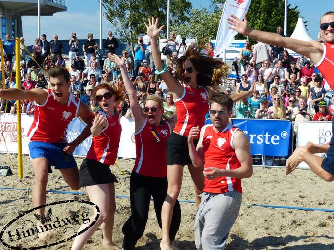 Beachvolleyball-Starcup-Team Verbotene Liebe