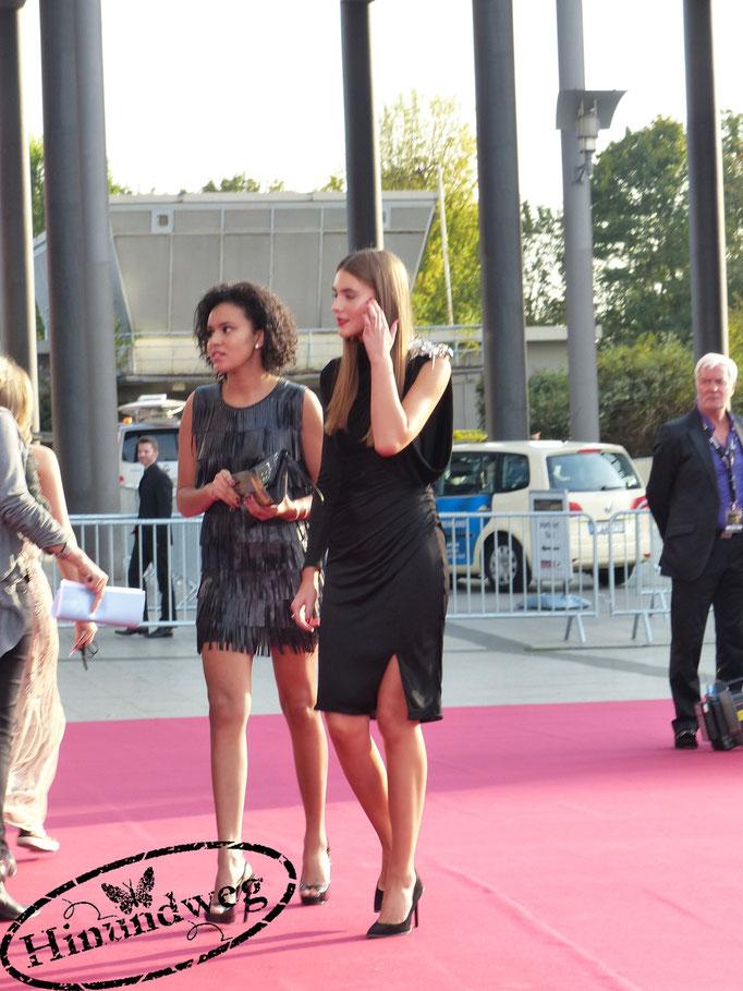 Stefanie Giesinger (Germanys next Topmodel)  mit Freundin Jennifer Di Fede