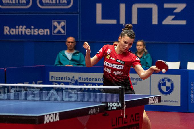 Karoline Mischek -  sorgte für die 2:0 Führung vs Jian Wei