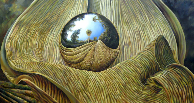 VIBRACIÓN. Óleo sobre tela, 80 X 150 cm. Jorge Luna