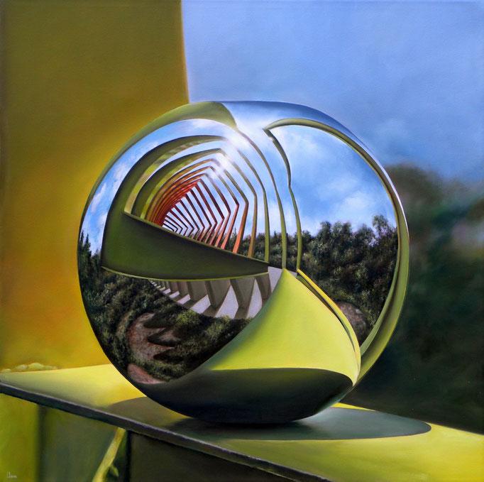 HIPNOSIS, Óleo sobre tela, 100 x 100 cm. Jorge Luna