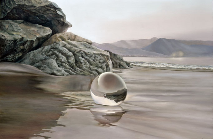 PERLA DE SAL. Jorge Luna, óleo/tela, 100 x 150 cm.