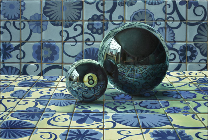 TALAVERA BLANCA Y TALAVERA NEGRA. Óleo sobre tela. 80 x 120 cm. Jorge Luna