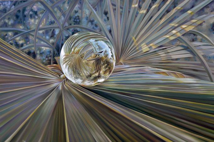ABANICO. Óleo/tela, 100 x 150 cm. Jorge Luna.