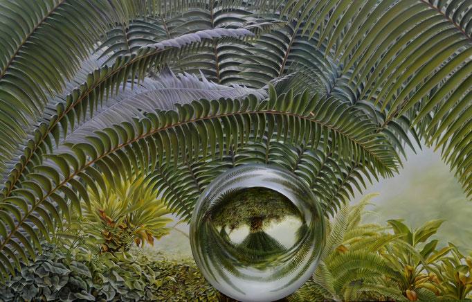 PENACHOS. Jorge Luna, óleo/tela, 170 x 275 cm.