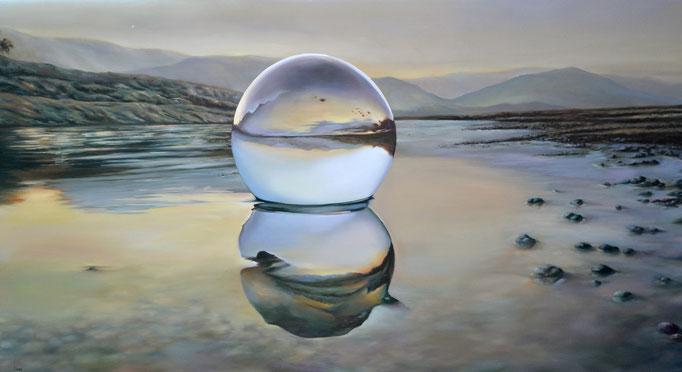 COSTA GITANA. Jorge Luna, óleo/tela, 80 x 150 cm.