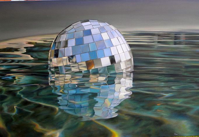 NAVE. Óleo sobre tela, 100 x 150 cm. Jorge Luna