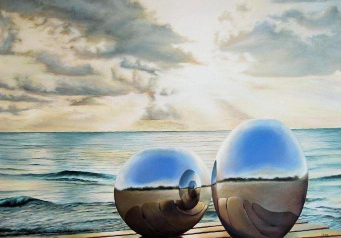 PRINCIPIO Y FIN. Jorge Luna, óleo/tela, 80 x 100 cm