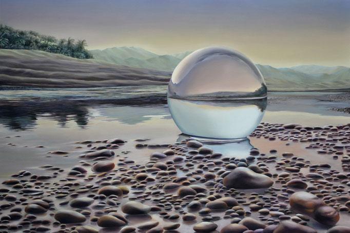AURA. Óleo sobre tela, 100 x 150 cm. Jorge Luna