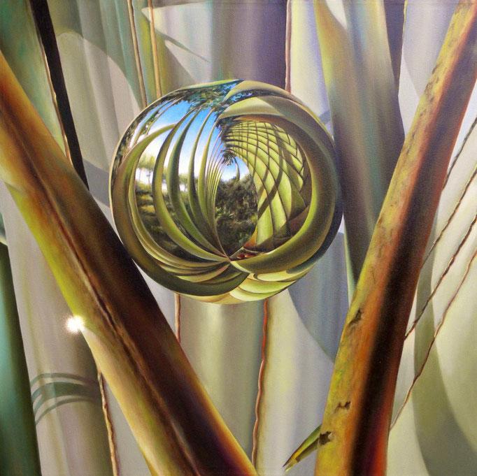 GOTA. Óleo/tela, 100 x 100 cm. Jorge Luna.
