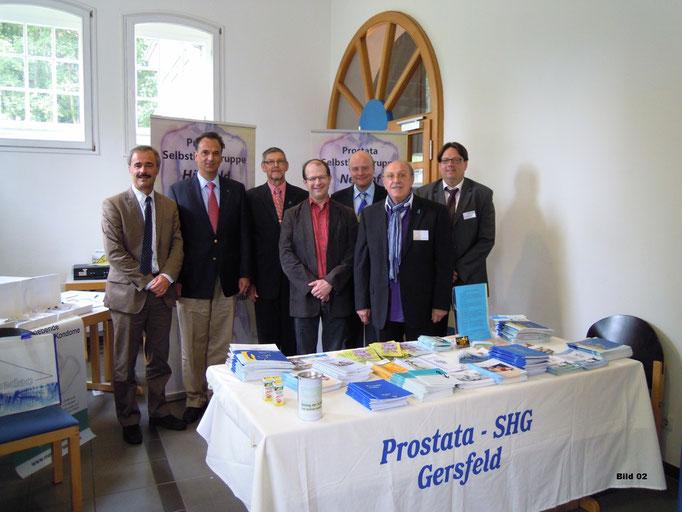 von links: Prof.Dr. Kälble - Dr. Schiefelbein - Bernhard Böhm - Dr. Krahl -  Urologe Werner Holtermann - Manfred Letsche - Jürgen Melchers