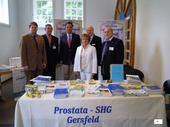 von links: Dr. Wingenfeld - Bernhard Böhm - Dr. Schiefelbein - Frau Trittin - Werner Holtermann - Manfred Letsche