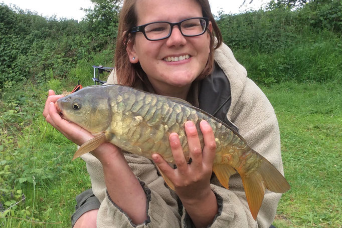 Sarah's first ever carp! (June 2015)