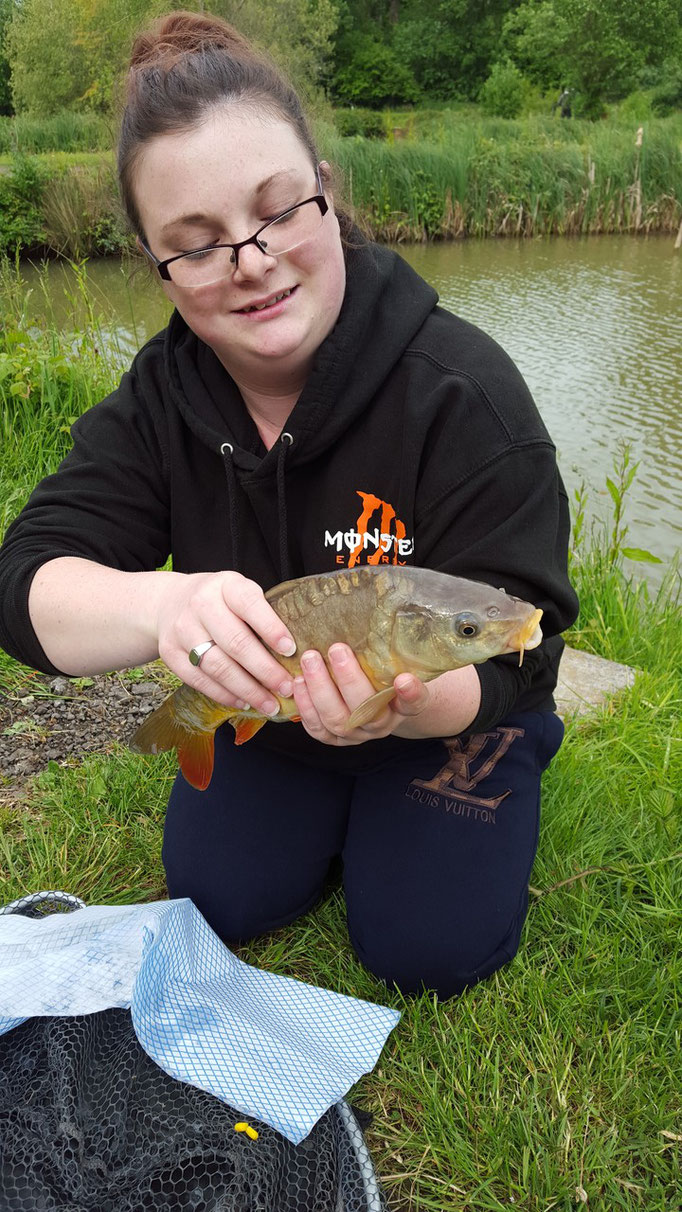 Gemma Williams and a perfect Ashmoor Carp