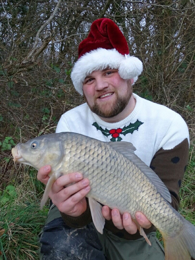 Steve caught this carp, among others, using bread on the surface during the Christmas period, along with many more perch on legered prawns