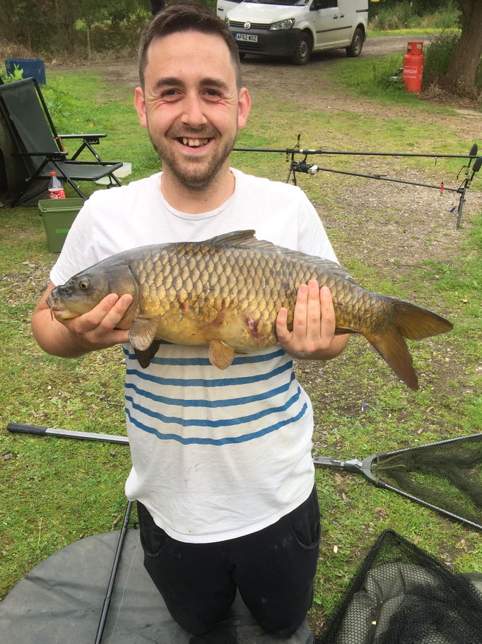 13lb 11oz common carp caught by Gavin Dawber (June 2016)