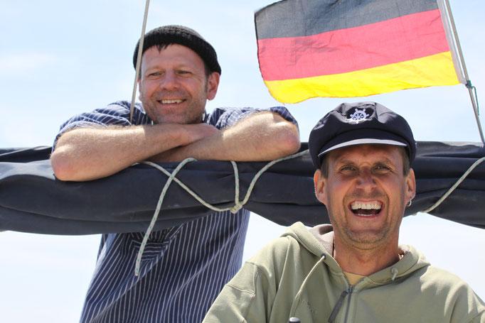Männer auf Kurs Segeln Coaching Skipper