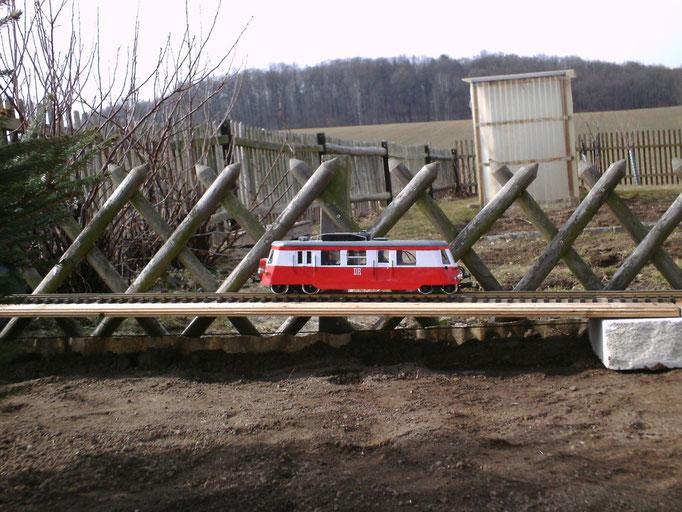 Der 1.Fahrversuch im März 2011