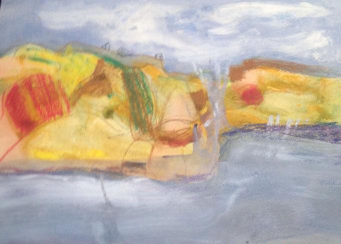 OT, Acryl auf Papier, 70 x 50 cm, Preis auf Anfrage