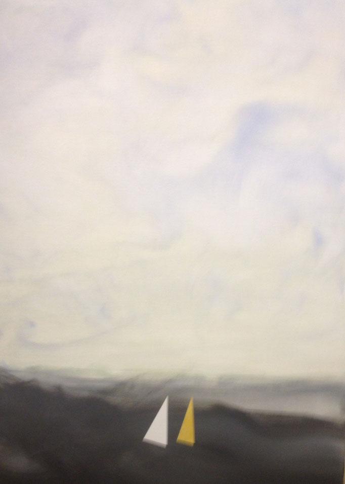 OT, Acryl auf Leinen, 100 x 70 cm, Preis auf Anfrage