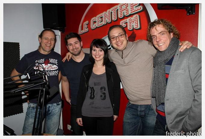 Centre FM La louvière avec Eric lhastel, Caroline, Laurent Bourdon, Eric trinida