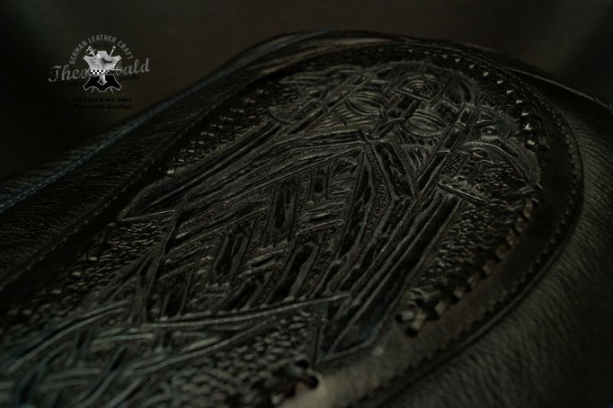 Celtic Leather Tooling Odin