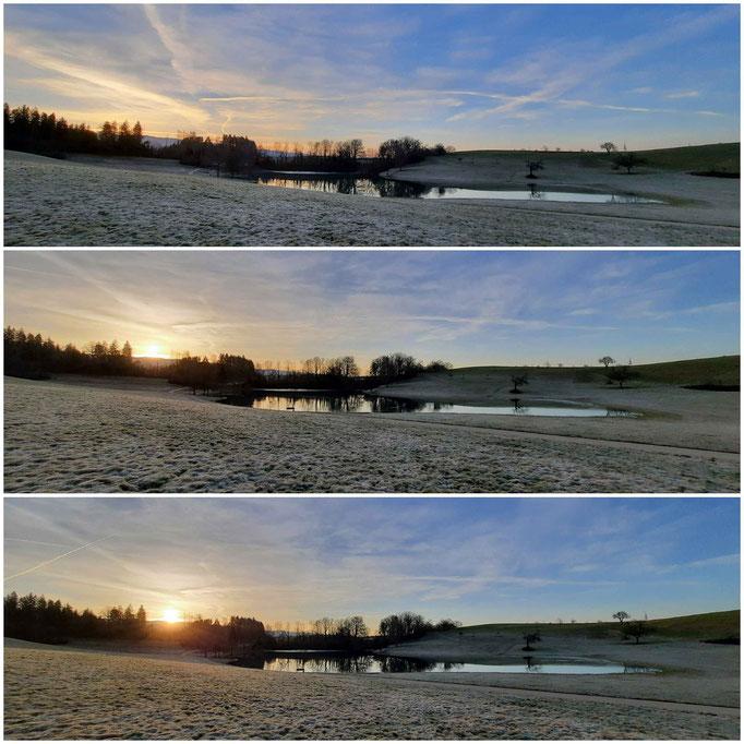 Sonnenaufgang am Eichener See