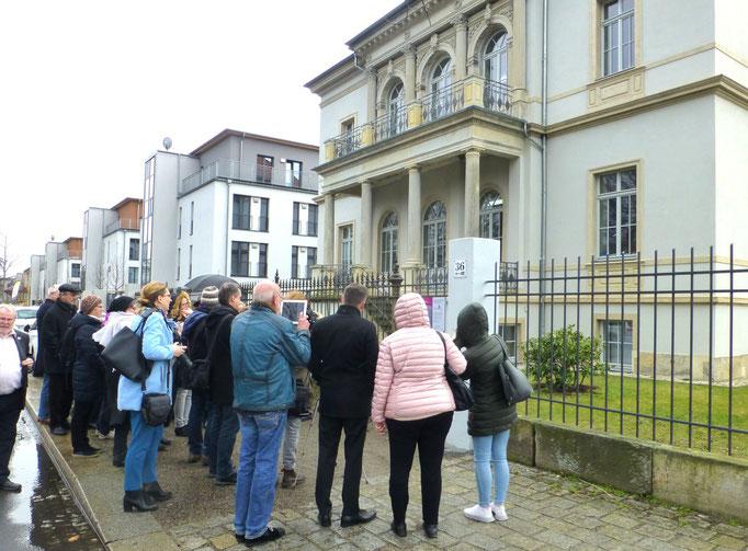 Meentzen - Schwestern Ehrentafel-Einweihung 26.2.2020 Dresden, Villa Wiener Straße 36, 6