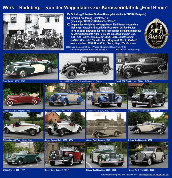 Emil Heuer -  Gläser-Karosserien 4. Sichttafeln Radeberg.  2 bl-li