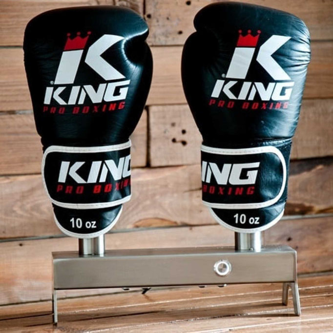 Stainless steel boxing glove dryer with King boxing gloves