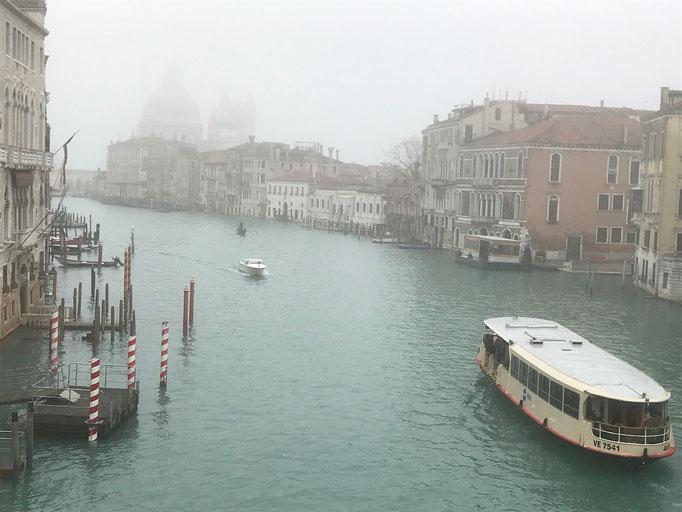 """Im Hintergrund """"Salute"""" im Nebel, im Februar"""