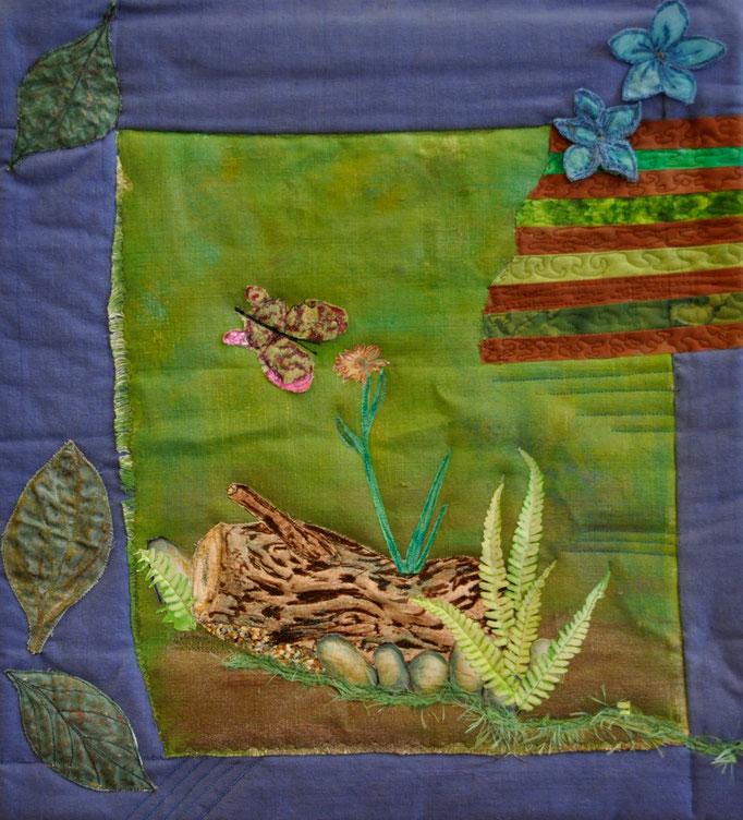 Stille, Art Quilt by Karin Flacke