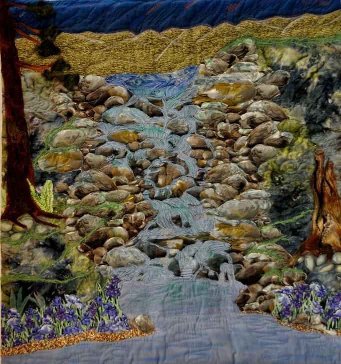Brausende Wasser, Art Quilt by Karin Flacke