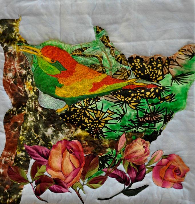 Rosen aus Täbris, Art Quilt by Karin Flacke