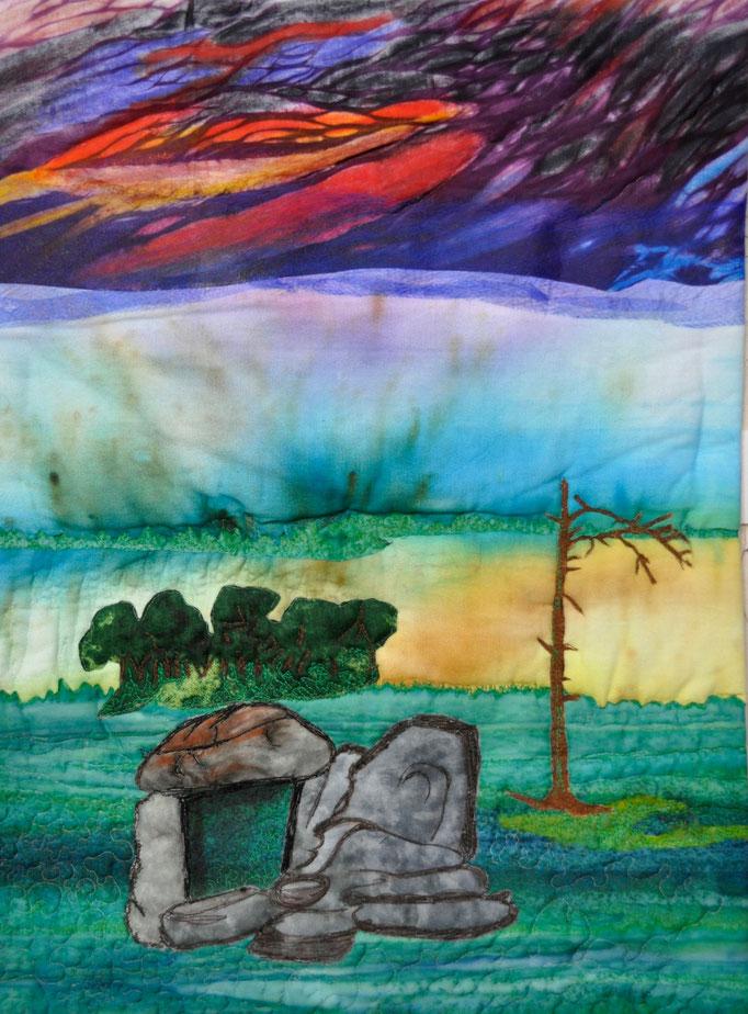 Dolmen de la Suhette | 2019 | Artquilt by Karin Flacke (sportquilter.de)