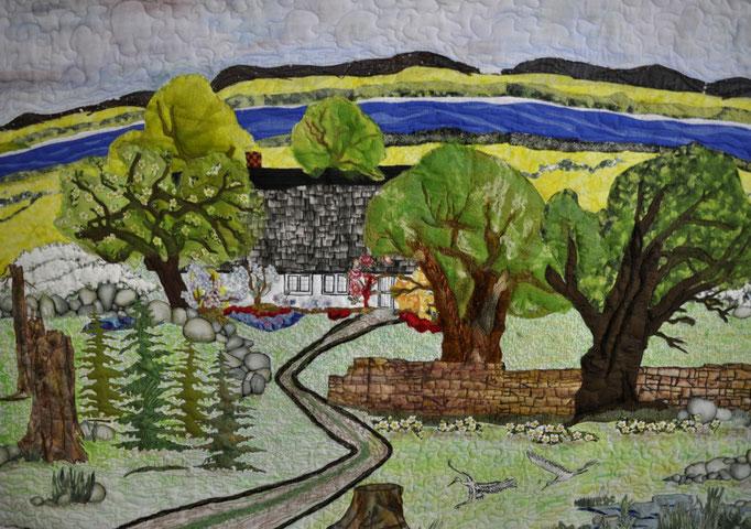 Heimat_Art-Quilt by Karin Flacke